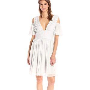 Constance Drape cold shoulder midi Dress gray